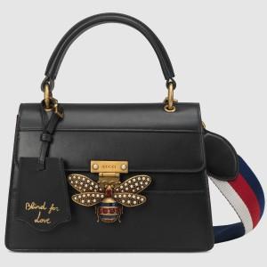 Gucci Black Queen Margaret Small Top Handle Bag