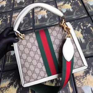 Gucci Queen Margaret GG Small Top Handle White Bag