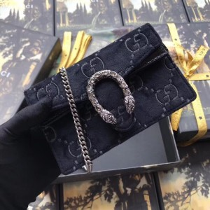 Gucci Black Dionysus Super Mini Velvet Bag