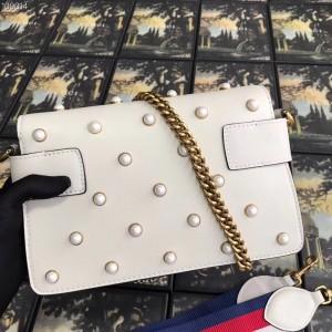 Gucci White Broadway Mini Shoulder Bag