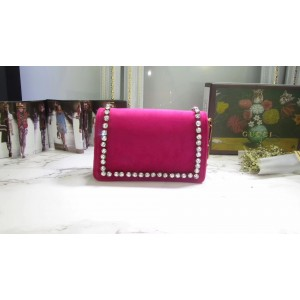 Gucci Raspberry Broadway Velvet Mini Bag