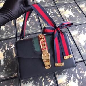 Gucci Black Sylvie Small Shoulder Bag