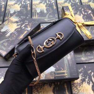 Gucci Zumi Mini Bag In Black Smooth Leather