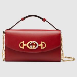 Gucci Zumi Mini Bag In Red Smooth Leather