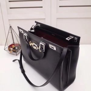 Gucci Zumi Medium Top Handle Bag In Black Calfskin