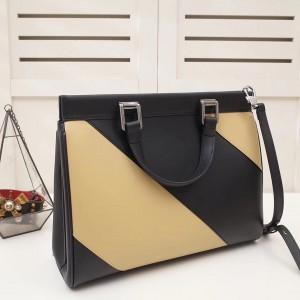 Gucci Zumi Medium Top Handle Bag In Stripe Calfskin