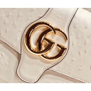 Gucci Arli Medium Shoulder Bag In Ostrich Leather
