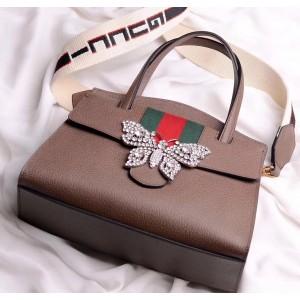Gucci Cafe GucciTotem Medium Top Handle Bag