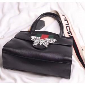 Gucci Black GucciTotem Medium Top Handle Bag