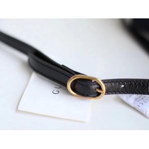 Gucci Navy Suede RE(BELLE) Medium Top Handle Bag