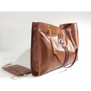 Gucci Brown Calfskin Rajah Large Tote Bag