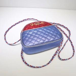 Gucci Red/Blue Laminated Leather Mini Bag