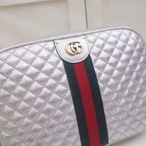 Gucci Sliver Quilted Leather Small Shoulder Bag