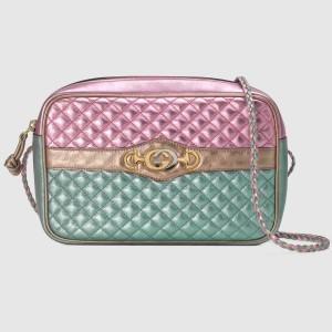 Gucci Pink/Blue Laminated Small Shoulder Bag