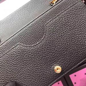 Gucci Black GG Marmont Leather Chain Mini Bag