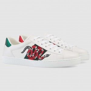 Gucci Men's Ace Embroidered Kingsnake Sneaker