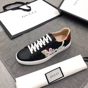 Gucci Men's Ace Embroidered Blind for Love Sneaker