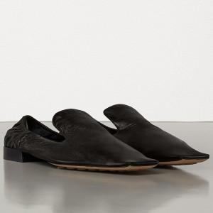Bottega Veneta Loafers In Black Nappa Leather