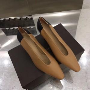 Bottega Veneta Almond Bicolor Pumps In Nude Nappa Leather
