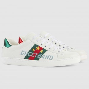 Gucci Men's Ace Sneakers With Gucci Band