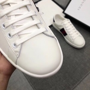 Gucci White Leather Women Ace Low-top Sneaker