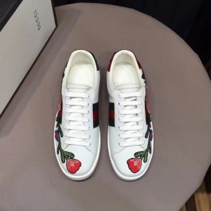 Gucci White Women Ace Embroidered Floral Sneaker