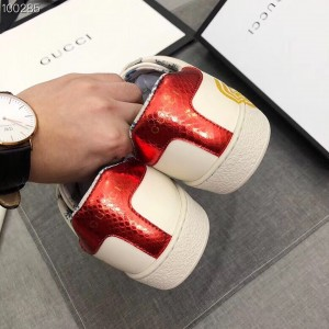 Gucci White Women Ace Sneaker With Guccy Print