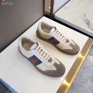 Gucci Butter Leather Women G74 Sneaker With Web