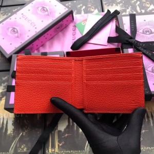 Gucci Orange Stripe Leather Bi-fold Wallet