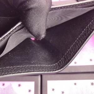 Gucci Bee Star Bi-fold Wallet In Black Leather