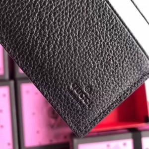 Gucci Black Print Leather Bi-fold Wallet