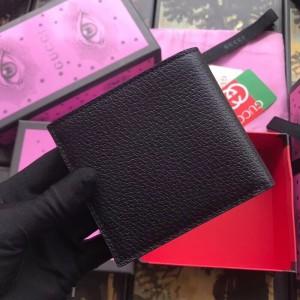 Gucci Animalier Bi-fold Wallet In Black Leather