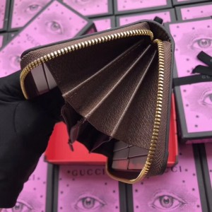 Gucci Ophidia GG Supreme Zip Around Wallet