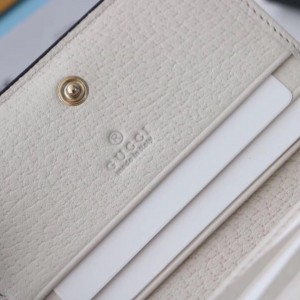 Gucci White Ophidia Card Case Wallet