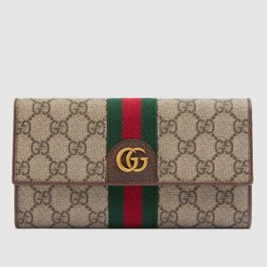 Gucci GG Ophidia Continental Wallet With Three Little Pigs
