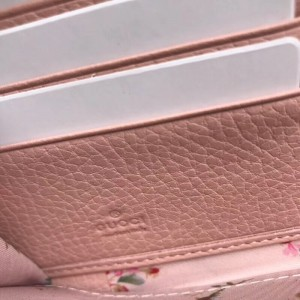 Gucci White Leather Zip Around Wallet With Bow