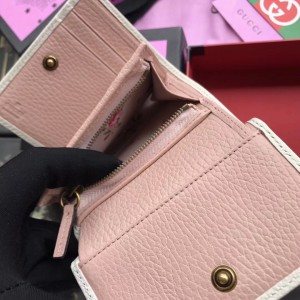 Gucci White Leather Wallet With Bow