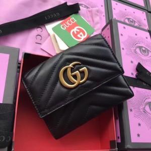 Gucci Black GG Marmont Matelasse Walle