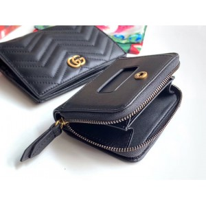 Gucci Black GG Marmont Small Wallet