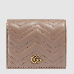 Gucci Dusty Pink GG Marmont Small Wallet