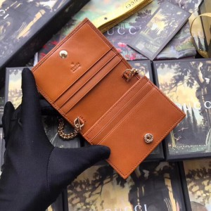 Gucci Vintage Rajah Chain Card Case Wallet