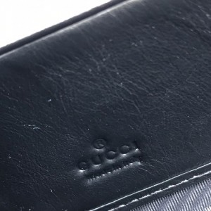 Gucci Rajah Zip Around Wallet In Black Leather