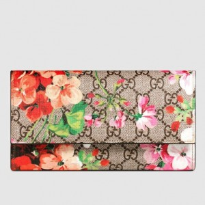 Gucci GG Blooms Continental Wallet
