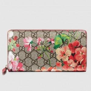 Gucci GG Blooms Zip Around Wallet