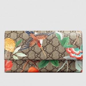 Gucci GG Supreme Tian Continental Wallet