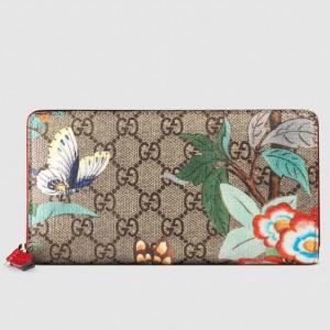 Gucci GG Supreme Tian Zip Around Wallet