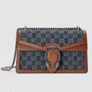 Gucci Dionysus Small Shouler Bag In GG Washed Denim