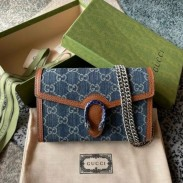Gucci Dionysus Mini Chain Bag In GG Washed Denim