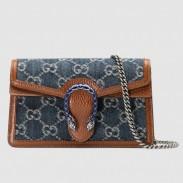 Gucci Dionysus Super Mini Bag In GG Washed Denim