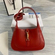 Gucci Jackie 1961 Small Hobo Bag In Red Leather